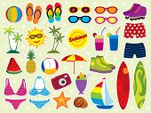 Summer holidays icon set. Please visit my portfolio for similar images.