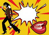 stock photo of lithographic  - Pop Art Burst 2 - JPG