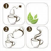 set of icons how to make tea (look for this vector illustration in my portfolio)