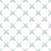 Two Crossed Swords Pattern. Cartoon Illustration Of Two Crossed Swords Pattern For Web poster