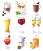 9 highly detailed drinks icons