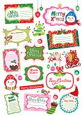 stock photo of happy holidays  - cute Christmas cards collection - JPG