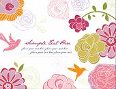floral background, greeting card template