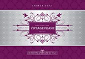 vintage template design for packaging, menu, greeting card or invitation card