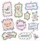 doodle bonitos quadros