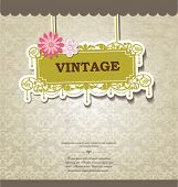 vintage card design for greeting card, invitation, menu, cover...