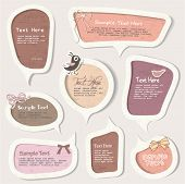 vector set of speech bubbles & scrapbook elements