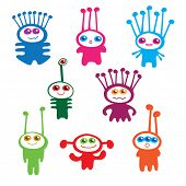 children's collection of funny aliens