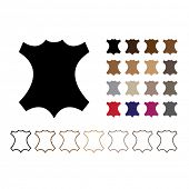 mark leather - silhouette pattern in different colors and outline options