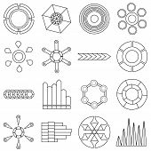 Infographic Items Icons Set. Outline Illustration Of 16 Infographic Items Icons For Web poster