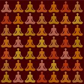 Pattern-Background - yogi meditator. Vector.