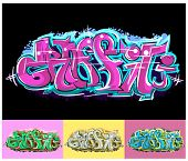 Graffiti hip hop text
