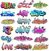 Hip hop urban graffiti