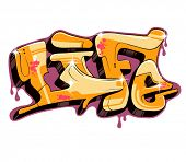 Graffiti text design. Urban art