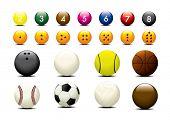 vector of variety balls