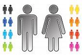 men and womenâ??s toilet pictograms