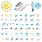 pic of hurricane clips  - Pictograms which represent weather conditions - JPG