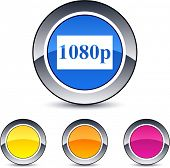 1080p glossy round web buttons.