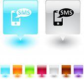 SMS glänzend viereck Web Schaltflächen.