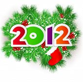 Happy new year 2012. Vector design element.