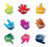 Hand Sign vector set