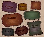 conjunto de vectores marco de cuero