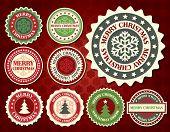 Christmas label with snowflake shape