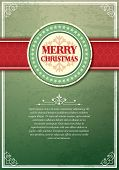 Christmas background with label and snowflakes vector background