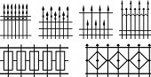 Vector iron fences