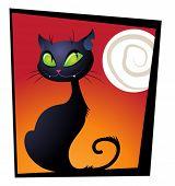 Whimsical black cat