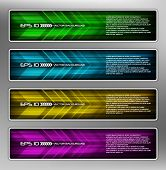 vector abstract web banner, creative design