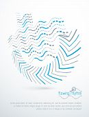 Flowing Rhythm, Abstract Wave Lines Vector Background For Use As Advertising Poster Or Banner Design poster
