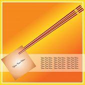 chopstick with memo