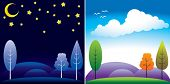 image of night-blooming  - day and night landscape - JPG
