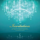 Luxury Chandelier background 09