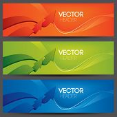 vector website headers, business success concept