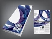 picture of brochure design  - tri fold business brochure template - JPG