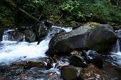 Boulders In Stream