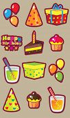 Birthday fun vector set