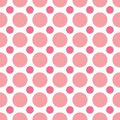 picture of dot pattern  - A seamless background pattern of alternating pink dots - JPG