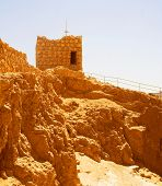 pic of zealots  - Ruins at Masada with Dead Sea in background - JPG