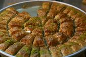 pic of phyllo dough  - A Tray of Baklava - JPG