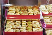 foto of phyllo dough  - A Tray of Baklava - JPG