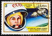 Postage stamp Cuba 1981 Valentina Tereshkova, 1st Woman in Space
