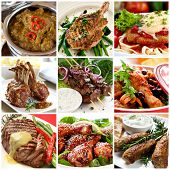 foto of pork cutlet  - Collection of warm meat dishes - JPG