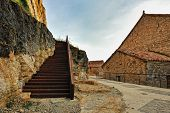 pic of ares  - Landscape with old spanish town Ares - JPG