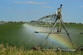 Irrigation Pivot With Rainbow