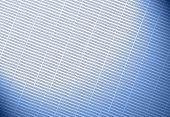 blue-light Dollar symbol on dark background