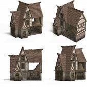 Medieval Houses - Barn poster