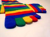 picture of knee-high socks  - macro of toe socks  - JPG